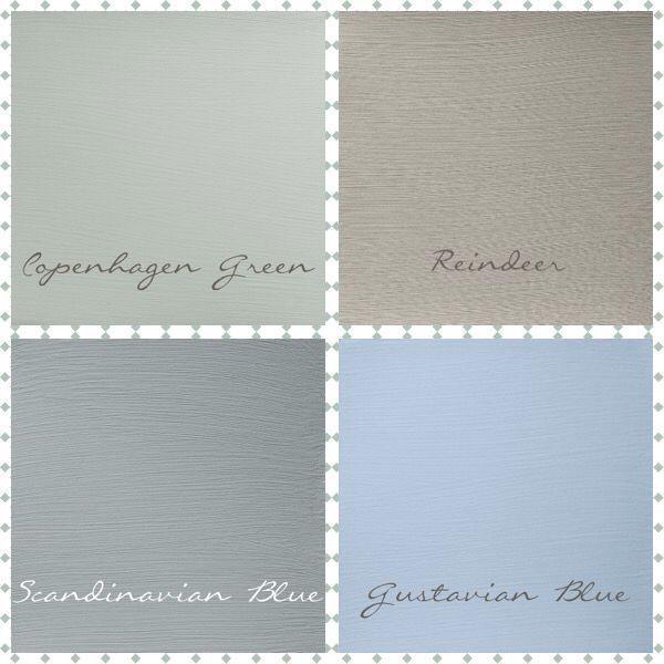 Schone Weiche Palette Von Kreidefarben Skandinavische Farben