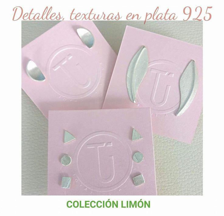 Colecciónlimón#aretes#detalles#plata925#formas#geometricas#texturas#diseño#color#TÚ joyas de autor.