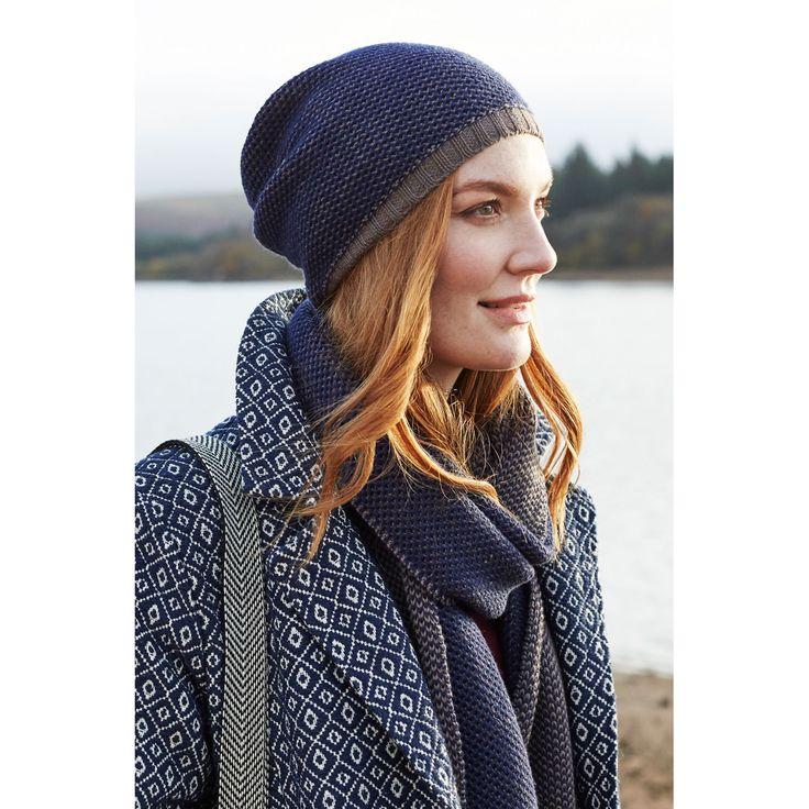 Hue og halstørklæde i uld og bomuld. Fair Trade.