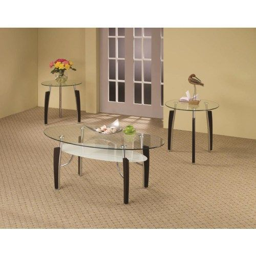 3 Piece Occasional Table Sets 3 Piece Contemporary Round Coffee End Table Set