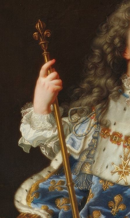 Louis XV de France, enfant (Louis XV of France as a child). Detail Description: Portrait of Louis XV of France as a five-year-old King in th...