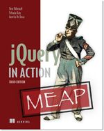 jQuery in Action by Bear Bibeault, Yehuda Katz, and Aurelio De Rosa jQuery is a fast, small, and feature-rich JavaScript library. It makes things like HTML document traversal and manipulation, event handling, animation, and Ajax much simpler with an easy-to-use API that works across a multitude of browsers. With a combination of versatility and extensibility, jQuery has changed the way that millions of people write JavaScript.