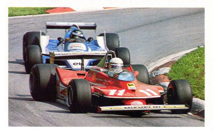 Jacques Laffite (Ligier JS11) & Jody Scheckter (Ferrari) - Grand Prix d'Autriche - Österreichring 1979 - AUTOhebdo août 1979.