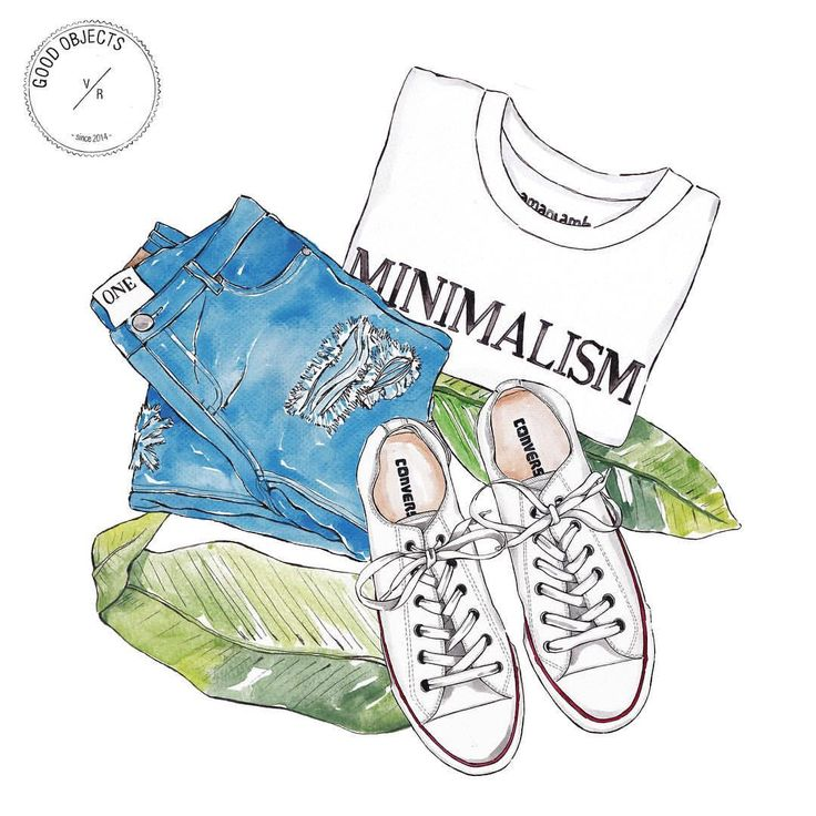 Good objects - Tuesday's minimalism… #goodobjects #watercolor #illustration