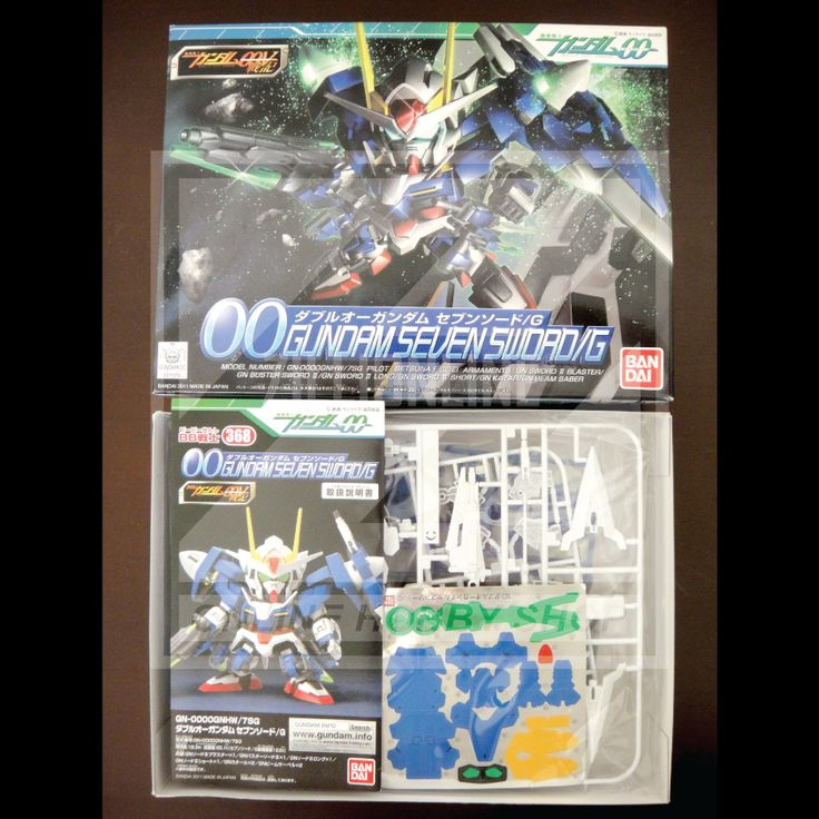 [MODEL-KIT] NON-SCALE - SD BB 00 GUNDAM SEVEN SWORD/G. Item Size/Weight : 25.5 x 19 x 5.7 cm / 220g. (*ITEM SIZE & WEIGHT BEFORE PACKAGED). Condition: MINT / NEW & SEALED RUNNER. Made by BANDAI.