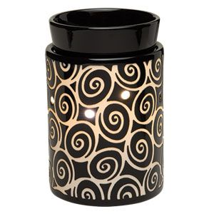 Swirling coils play across a midnight background in Whirls.To purchase, go to www.jenni.scentsy.com.au