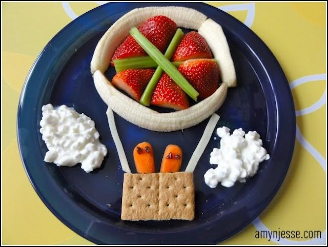 creative kid snacks: Idea, Fun Food, Hotair, Kid Snacks, Hot Air Balloons, Food Art, Sugar And Spice, Creative Kids Snacks, Kids Food