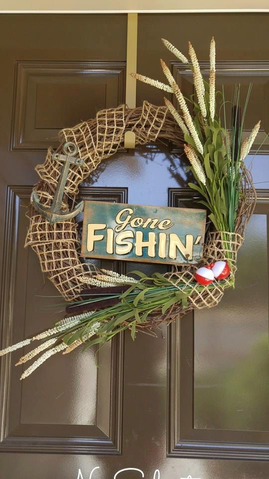 Gone Fishing Wreath by CraftyChique06 on Etsy