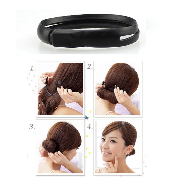 Plackage Include:Black Hair Styler Magic Bun Ponytail Maker Twist Ring x 1. Model:Magic Hair Styler Bun. This is a simple bun-elegant twist Band. | eBay!