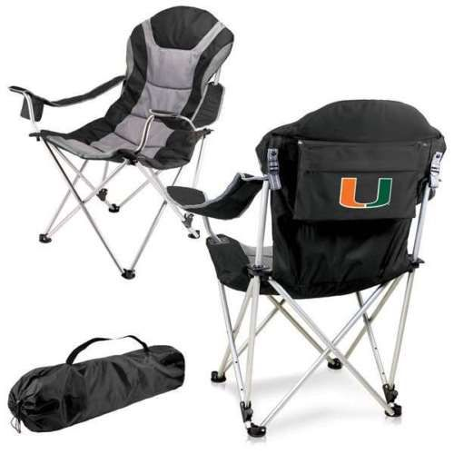Footballs 21220: Reclining Camp Chair -Black (U Of Miami ) Digital Print Tailgate Reclining Camp -> BUY IT NOW ONLY: $76.39 on eBay!