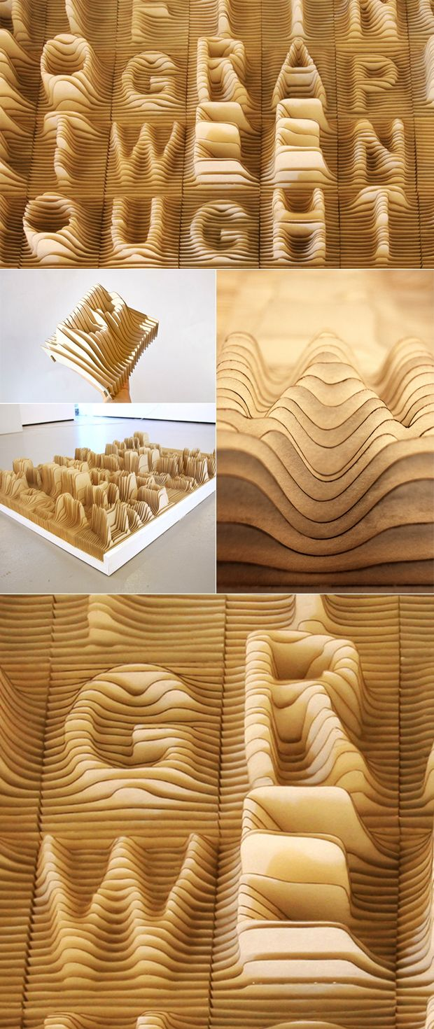 amazing work entitled Alphabet Topography by Synoptic Office via This Is Colossal (a site I could spend hours getting lost in).