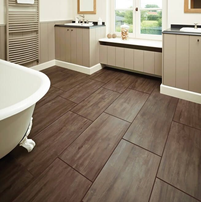 Pic Of Best Bathroom flooring options ideas on Pinterest Bathroom flooring Vinyl plank flooring and Gray and white bathroom