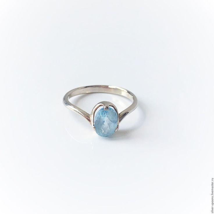 Купить Кольцо с голубым топазом. Украшения с топазами. - кольцо, кольцо с камнями, кольцо для помолвки