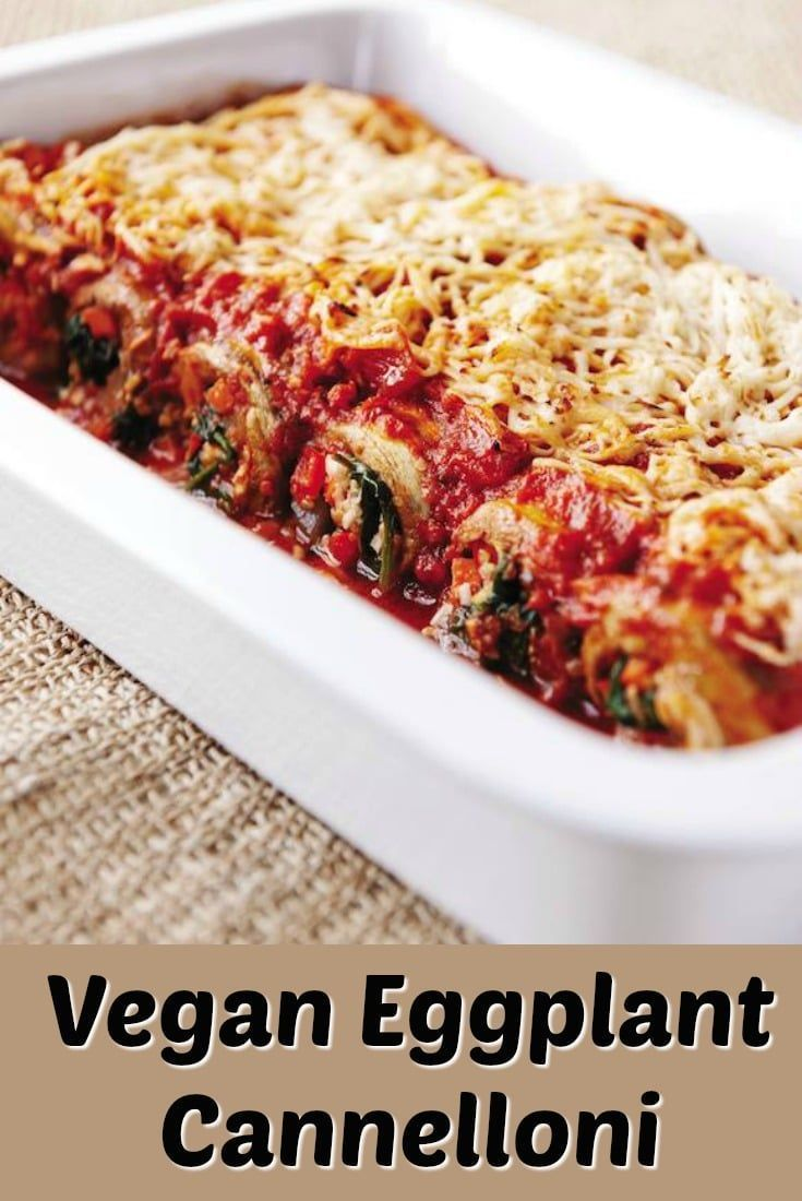 A vegan eggplant cannelloni that is a truly special dish via Clean Eating Kitchen #Vegan #maindish