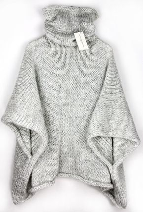 Acogedor suéter Poncho Poncho de punto suéter suéter