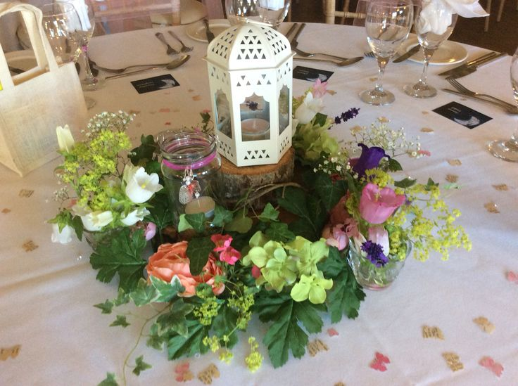"""A Midsummer Nights Dream "" table decoration idea using a few IKEA items and bits from the garden ."
