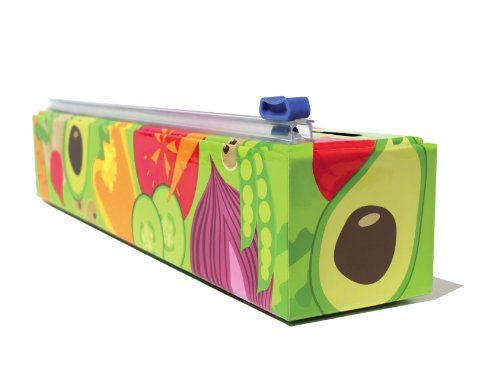 Chicwrap Veggies Refillable Plastic Wrap Dispenser/Slide Cutter and 250' of Professional BPA Free Plastic Wrap - Our sustainable dispenser with Veggies design puts the garden into your kitchen! ChicWrap Veggies brings natures color palette of ruby red tomatoes, avocados, cucumbers, mushrooms, onions and bright orange carrots straight to your countertop. This is creative agriculture at work. Awesome healthy ...