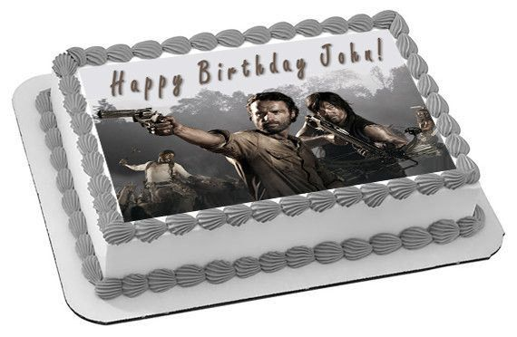The Walking Dead 1 Edible Birthday Cake OR Cupcake Toppe – Edible Prints On Cake (EPoC)
