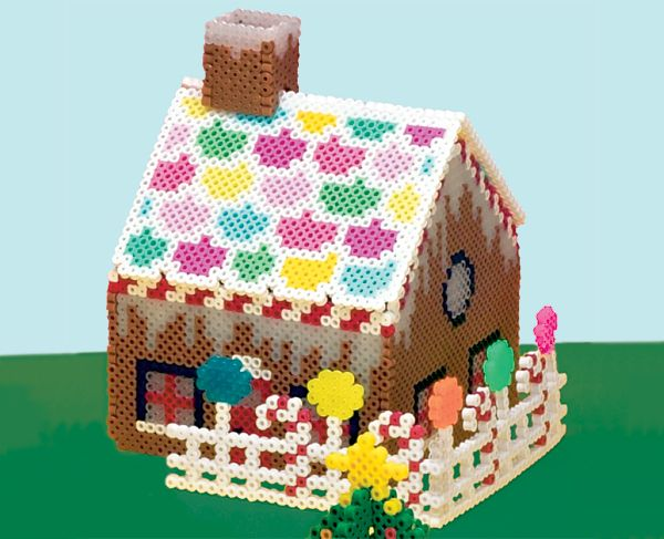 3-D Gingerbread House perler beads project pattern - Perler®