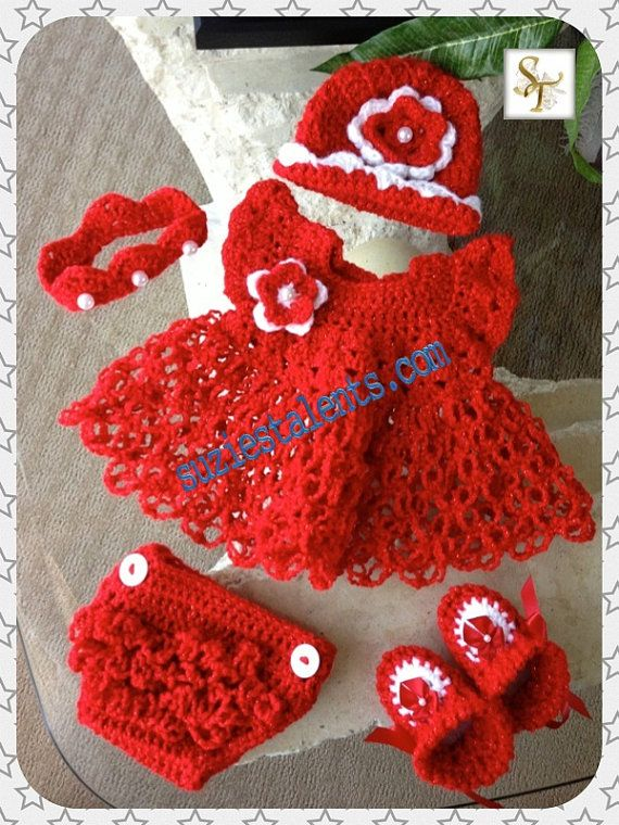 Hey, I found this really awesome Etsy listing at https://www.etsy.com/listing/173999837/crochet-baby-dress-set-baby-dress