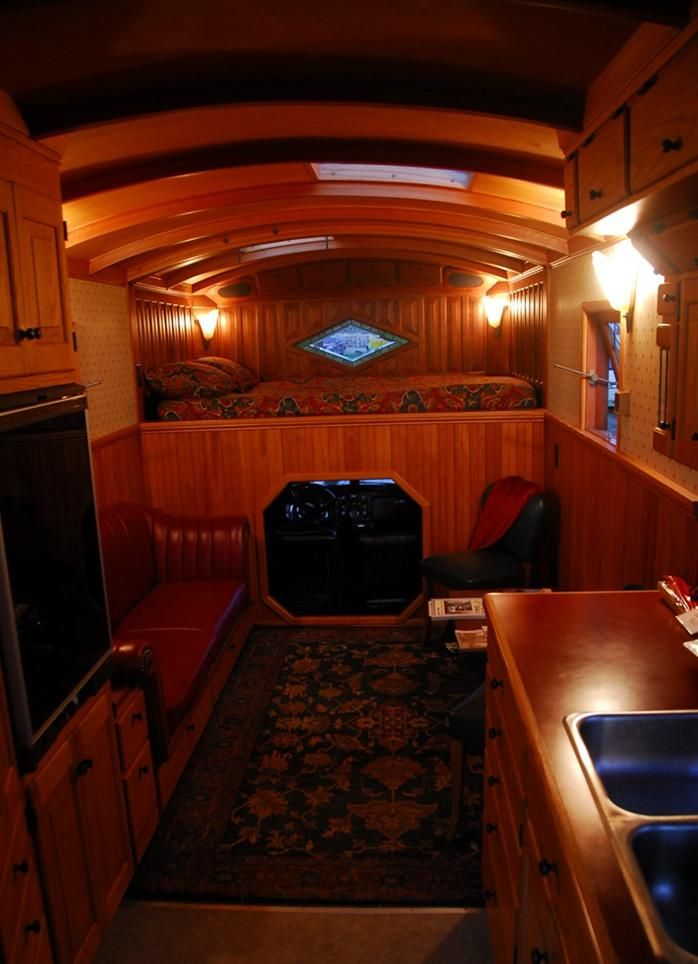 This housetruck was built on a 1949 Federal Truck chassis, and he's owned it since 1971!