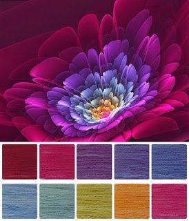 ColourSpun: ColourSpun Colourways - Ria's Flower