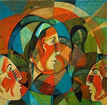 Original Painting by Mary Morez (Navajo)
