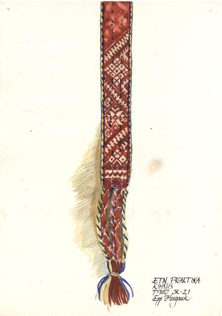 A design for a Kihnu belt