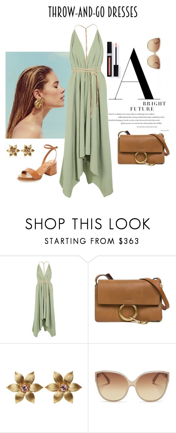 """""""Throw-and-Go Dresses"""" by meltc ❤ liked on Polyvore featuring Caravana, Chloé, La Perla, Couture Colour, Linda Farrow and Tod's"""