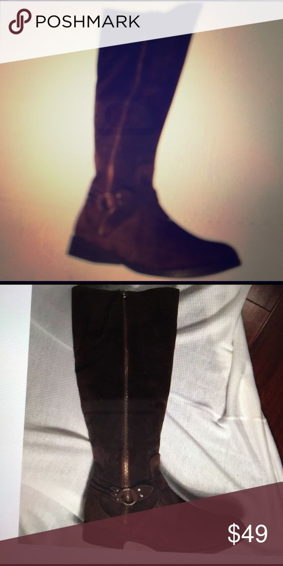 Brown suede riding boots Brown suede riding boot worn only once Shoes Winter & Rain Boots