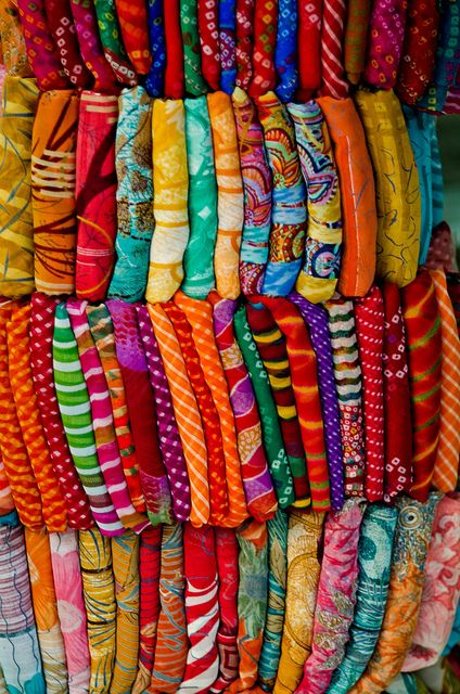 Pick a sari, any sari.  by B.Bubble, via Flickr