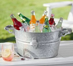 Galvanized Metal Small Party Bucket