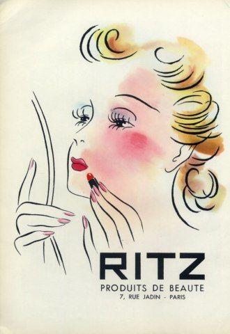 Ritz (Cosmetics) 1948 Making-up Lipstick