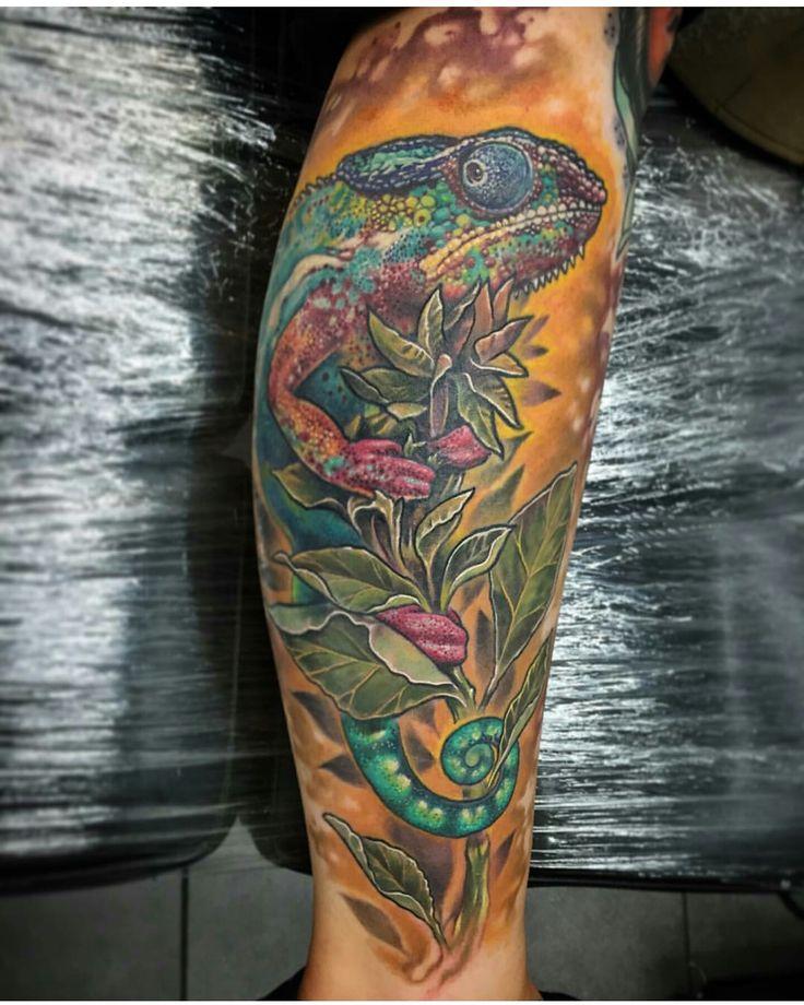 Chameleon Tattoo Designs Drawings