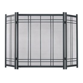 Pleasant Hearth 52-In Vintage Iron Steel 3-Panel Craftsman Fireplace S