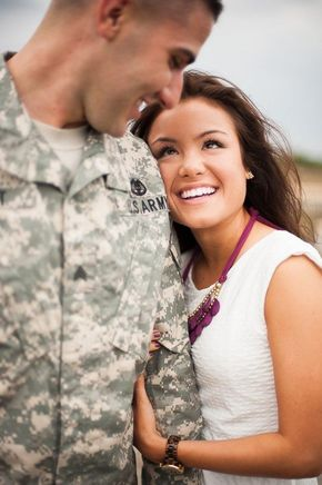 In honor of Memorial Day we had to share this adorb engagement photo!