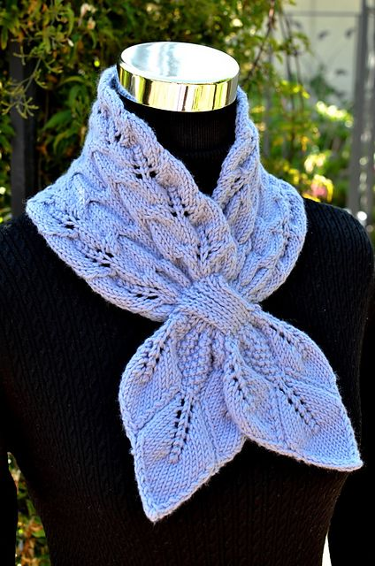Ravelry: Leaves and Cables Scarf pattern by Christy Hills