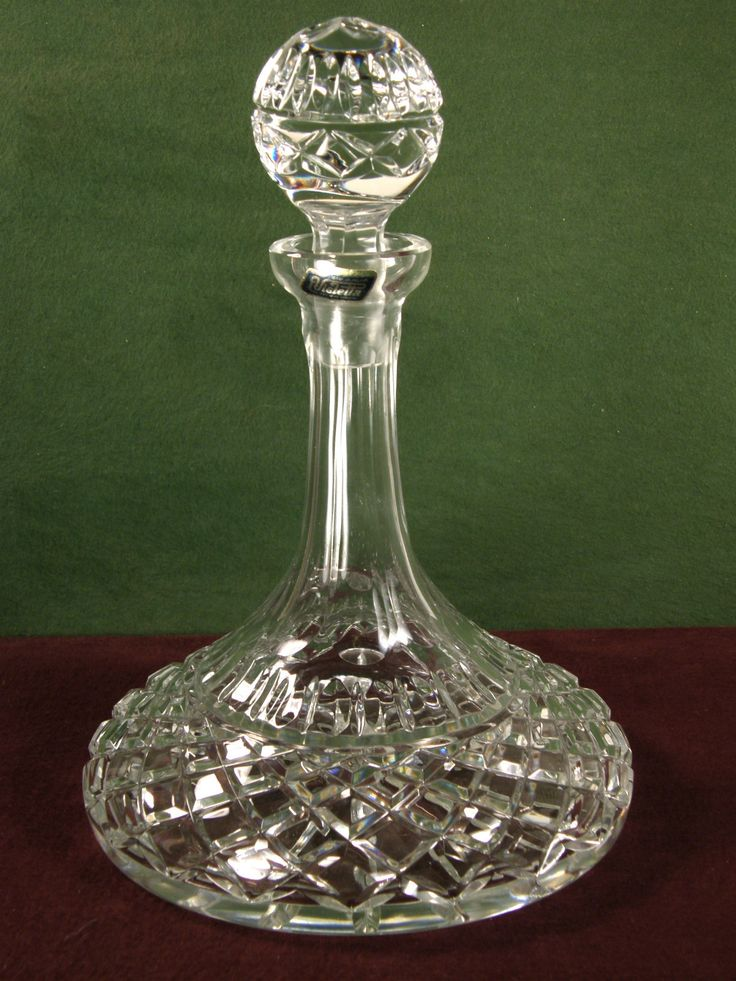 Lead crystal wine decanter decanter pinterest for Wine carafes and decanters