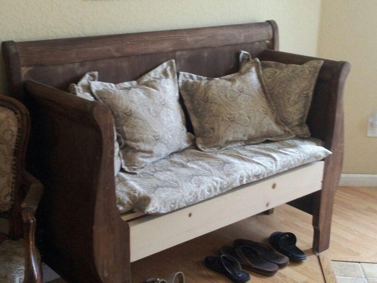 Bench Made From Headboard My Stuff Diy Pinterest