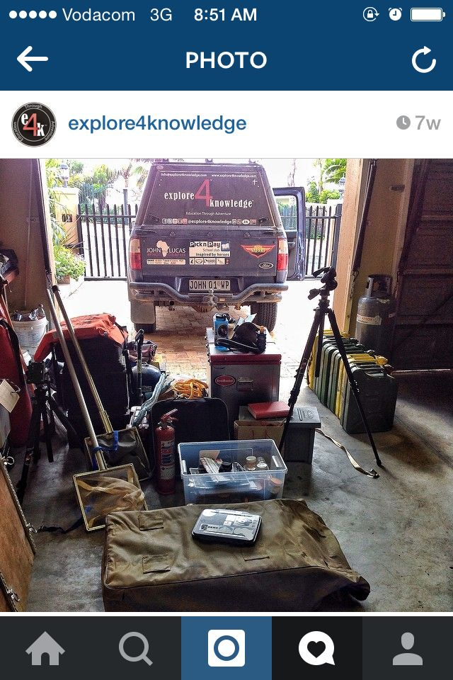 Equipment being sorted and packed into the #Ford #Ranger for the #e4k_water project