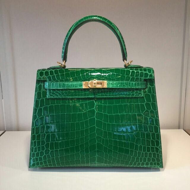 Hermes Kelly 25 Cactus nilo shiny sellier ghw [X]