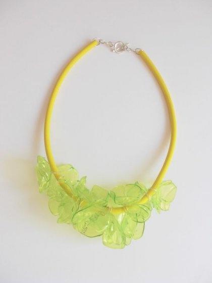 TĘCZUŚ - naszyjnik zielono-zółty (proj. Ekoista)