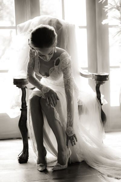 Can we get a swoon over this lace Inbal Dror gown | Style Me Pretty