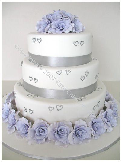 Roses And Hearts Wedding Cake By Elitecakedesigns Sydney