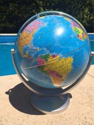Globo Terráqueo Celeste MULTIGIRO Base Plástico Didacticworld®