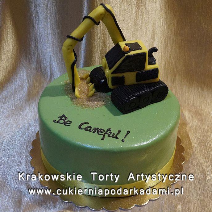 136. Tort z koparką z lukru. Excavator cake.