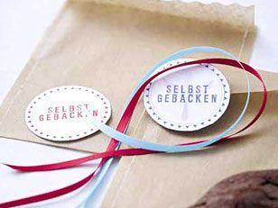 Etiketten-Vorlagen: Leckeres, mit Liebe verpackt - etiketten-kuvert