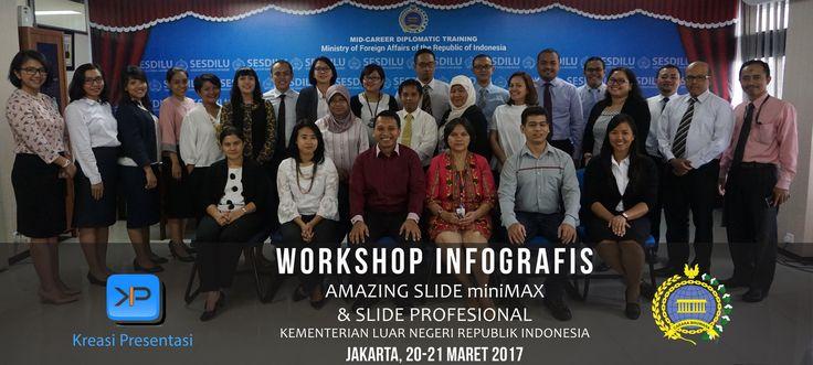 Pelatihan Infografis, Kementerian Luar Negeri RI, 21-22 Maret 2017.
