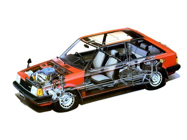 1980-1985 Mazda Familia Hatchback - Illustration unattributed
