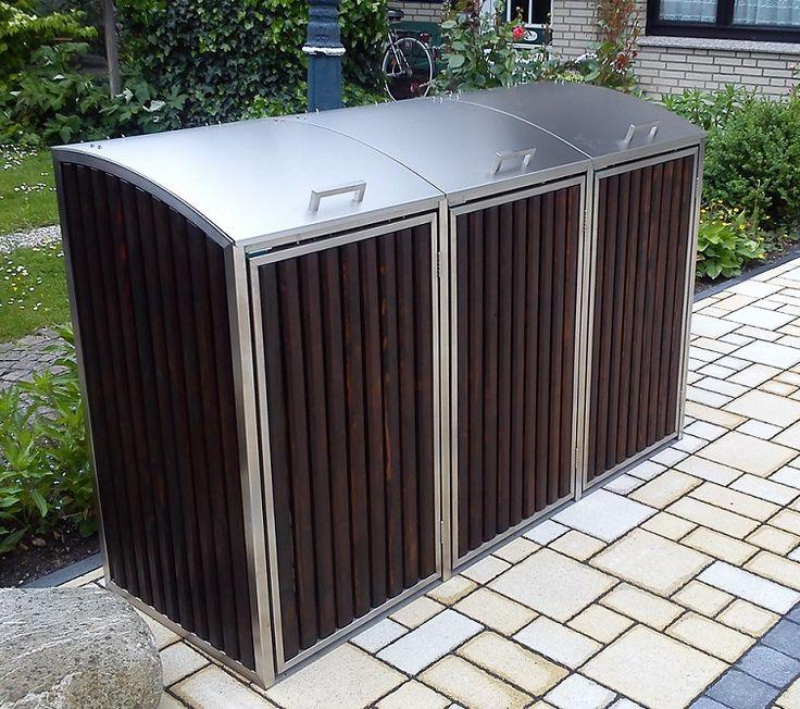 mülltonnenbox charisma 3x 120 / 240 liter | mülltonnenboxen aus,